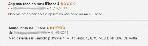 iPhone 4 costuma apresentar erro ao executar jogos novos e pesados (Foto: Reprodução / Dario Coutinho)