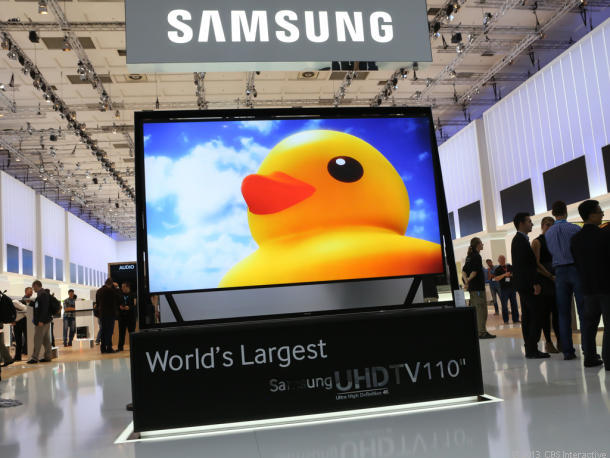 Samsung vem investindo pesado nas TVs (Foto: Reprodução/CNET)