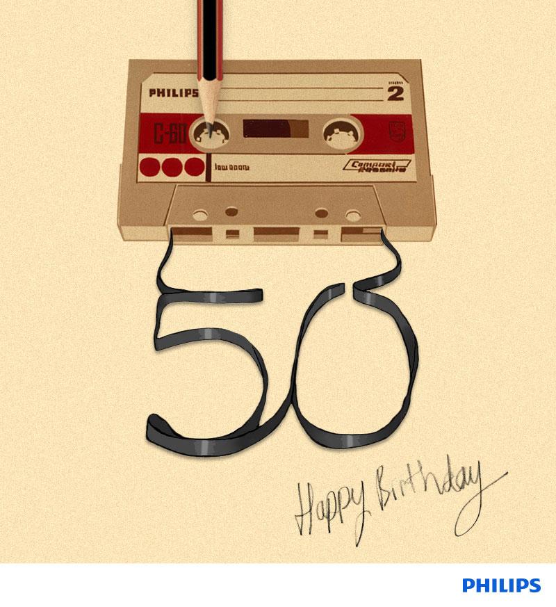 Fita cassete completa 50 anos (Foto: Divulgação/Philips)
