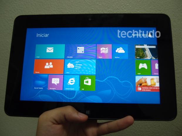 Menu iniciar favorece o uso do Latitude 10 como um tablet (Foto: Pedro Zambarda/TechTudo)