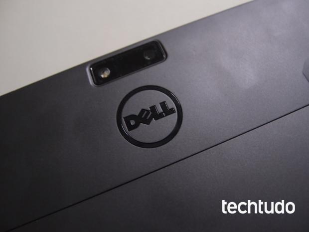 Câmera traseira do Dell Latitude 10 tem sensor de até 8 Megapixels (Foto: Pedro Zambarda/TechTudo)