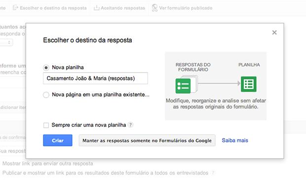 Armazenando as respostas do formulário (Foto: Reprodução/João Paulo Carrara)