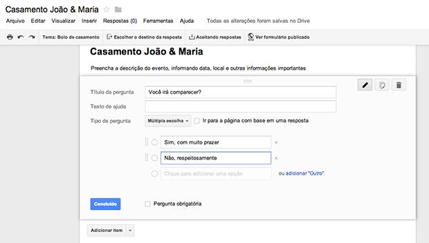 Criando uma pergunta (Foto: Reprodução/João Paulo Carrara)