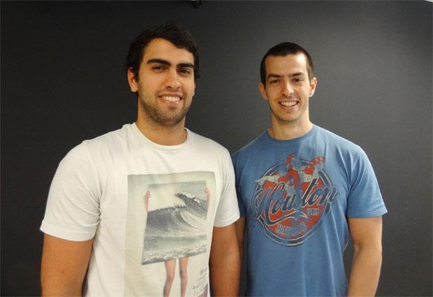 Os sócios do Passei Direto, André Simões e Rodrigo Salvador, se conheceram em uma competição para acelerar startups (Foto: Divulgação)