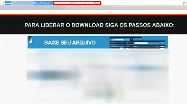 Muitas vezes, basta apagar o domínio do site até o segundo 'http' para encontrar o link válido (Foto: Reprodução/ Paulo Alves)