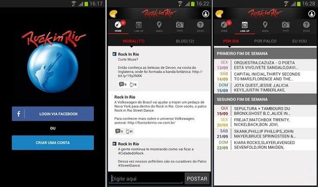 App oficial do Rock in Rio é bem completo (Foto: Divulgação)