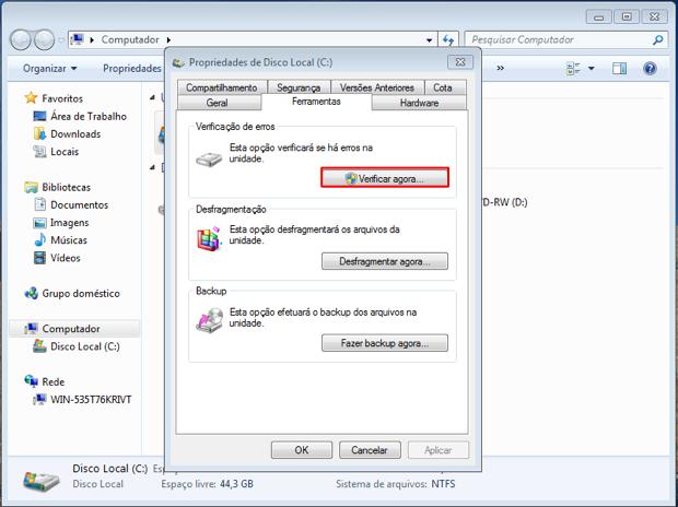 """Clique no botão """"Verificar agora"""" (Foto: Reprodução/Thiago Bittencourt)"""