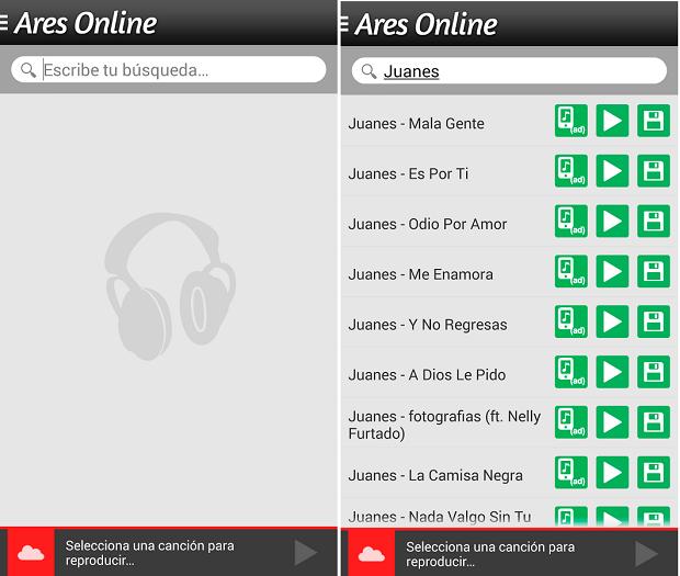 Ares Online é um aplicativo para ouvir e baixar músicas da Internet (Foto: Reprodução)