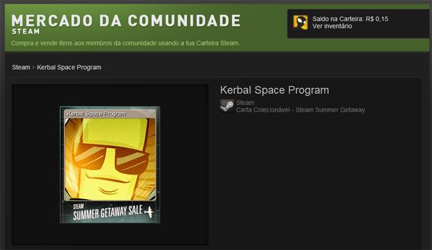 O card ficará anunciado no mercado do Steam (Foto: Felipe Vinha/TechTudo)