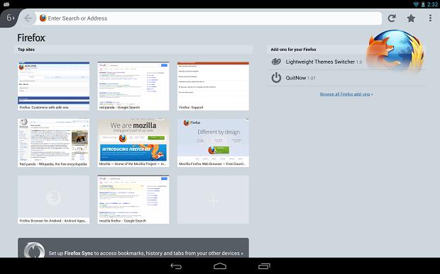 Firefox para Android ganhou novas funcionalidades (Foto: Divulgação)