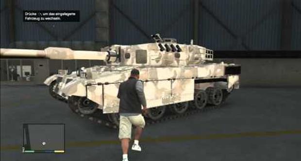 Tanques podem ser obtidos em bases militares em GTA 5 (Foto: Reprodução)