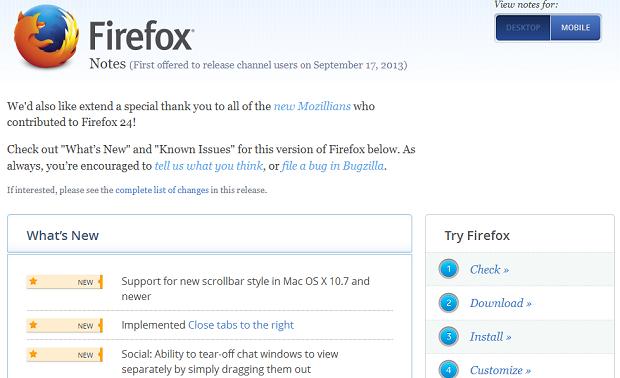 Novo Firefox tem várias modificações (Foto: Divulgação)