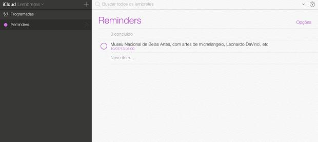 Lembretes são marcados em roxo (Foto: Reprodução/Thiago Barros)
