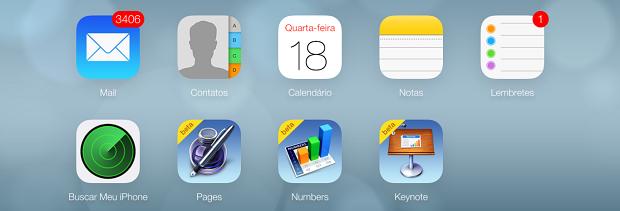 Novo iCloud está seguindo padrão visual do iOS 7 (Foto: Reprodução/Thiago Barros)