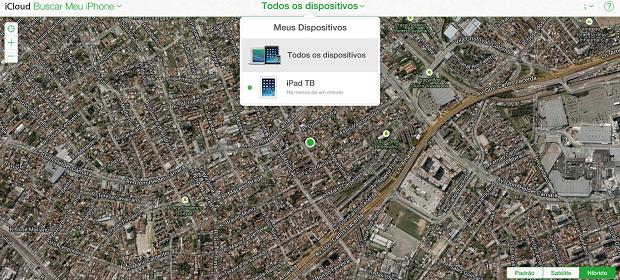 Até o Buscar Meu iPhone está mudado visualmente (Foto: Reprodução/Thiago Barros)