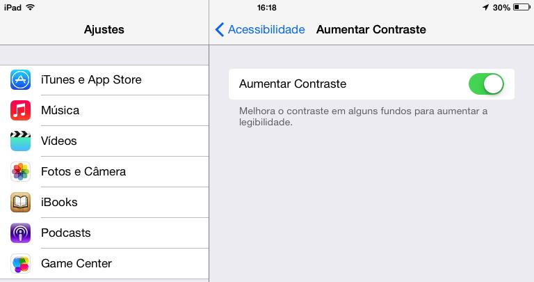 Desativando transparências do iOS 7 (Foto: Reprodução/Helito Bijora)