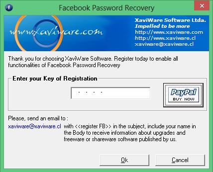 Inserindo código para acessar o Facebook Password Recovery (Foto: Reprodução/Carolina Ribeiro)