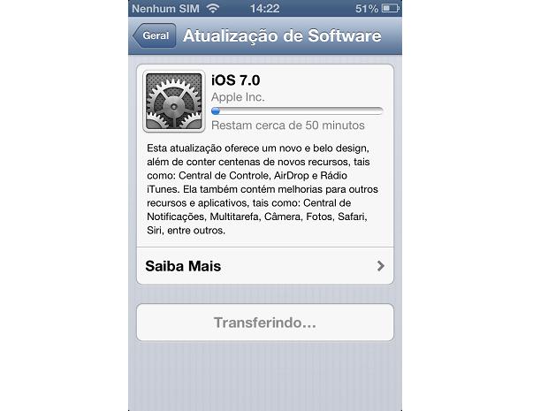 Aguarde o fim do download para a instalação (Foto: Reprodução/Thiago Barros)