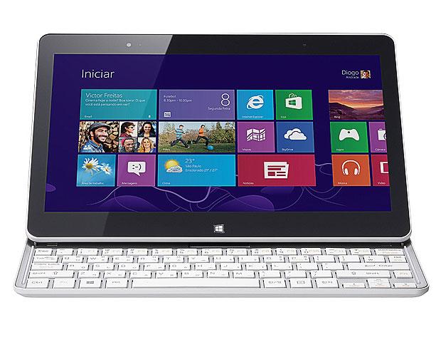 O SlidePad possui sensor de iluminação e teclado Pebble com 70 teclas padrão ABNT (Foto: Divulgação)