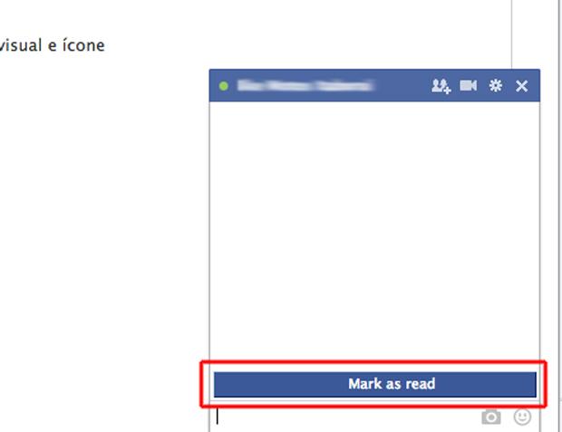 """A nova opção """"Mark as Read"""" criado pelo Facebook unseen (Foto: Reprodução/Marvin Costa)"""