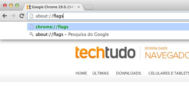 Acessando recursos em testes do Chrome (Foto: Reprodução/Helito Bijora)