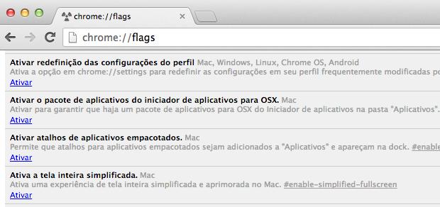 Ativando Chrome App Launcher no Mac (Foto: Reprodução/Helito Bijora)