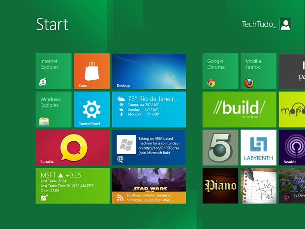Windows 8 é versão mais recente (Foto: Reprodução/TechTudo)