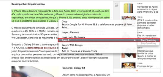 Teste a nova voz e idioma da vocalização de textos do Mac OS (Foto: Reprodução/Marvin Costa)