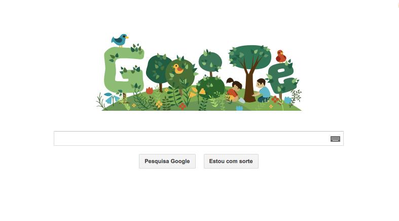 Doodle do Google comemora Dia da Árvore (Foto: Reprodução)