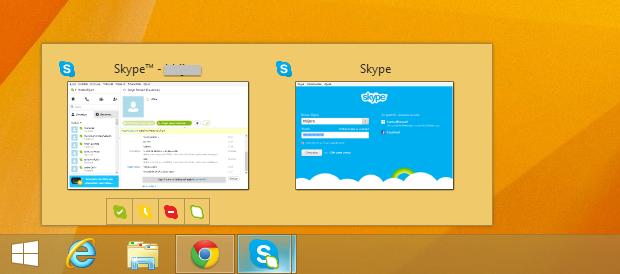 Duas instâncias do Skype (Foto: Reprodução/Helito Bijora)