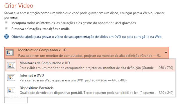 Configurando tamanho do vídeo (Foto: Reprodução/Helito Bijora)
