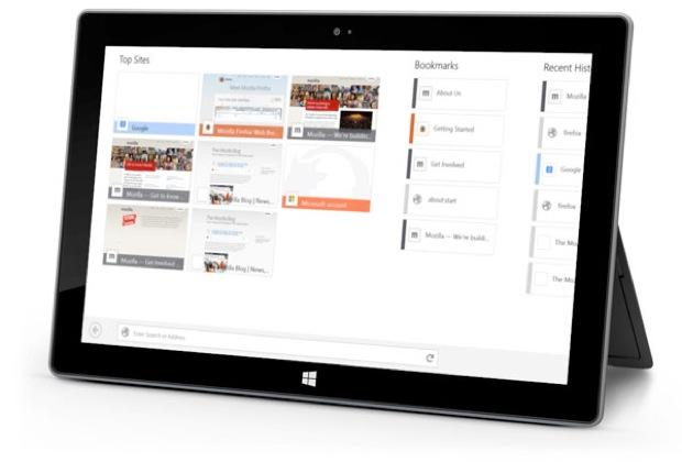 Mozilla Firefox testa versão touchscreen para notebook e tablet Windows 8. (Foto: Reprodução/CNET)