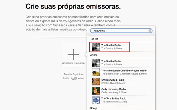 Encontrando um nova emissora no iTunes Radio (Foto: Reprodução/Marvin Costa)