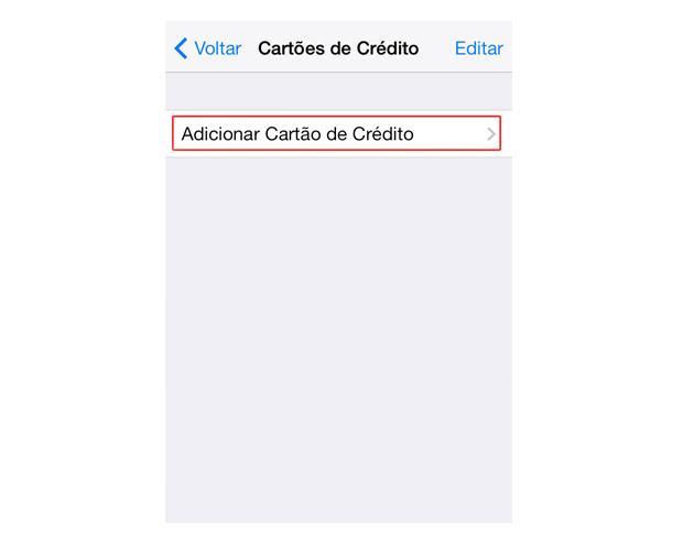 Adicionando dados de um cartão de crédito ao Safari do iOS 7 (Foto: Reprodução/Marvin Costa)