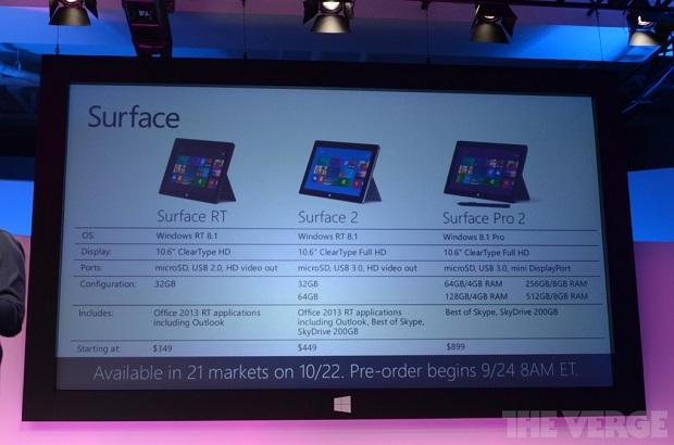 Microsoft Surface 2 tem versão com Windows RT e com Windows 8.1 (Foto: Reprodução/The Verge)