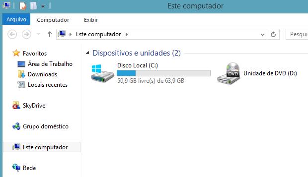 Bibliotecas devem desaparecer de 'Este computador' (Foto: Reprodução/Helito Bijora)