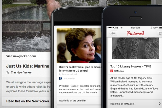 Pinterest agora pode ser usado para 'pinar' links e notícias (Foto: Reprodução/Pinterest)
