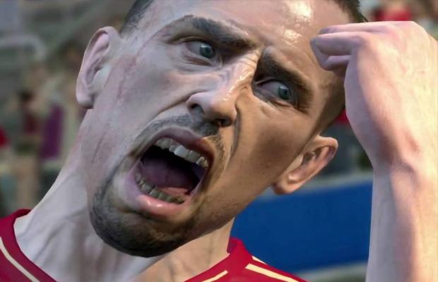Franck Ribery parece chateado que não pode jogar PES 2014 online (Foto: konami-games.blogspot.com)