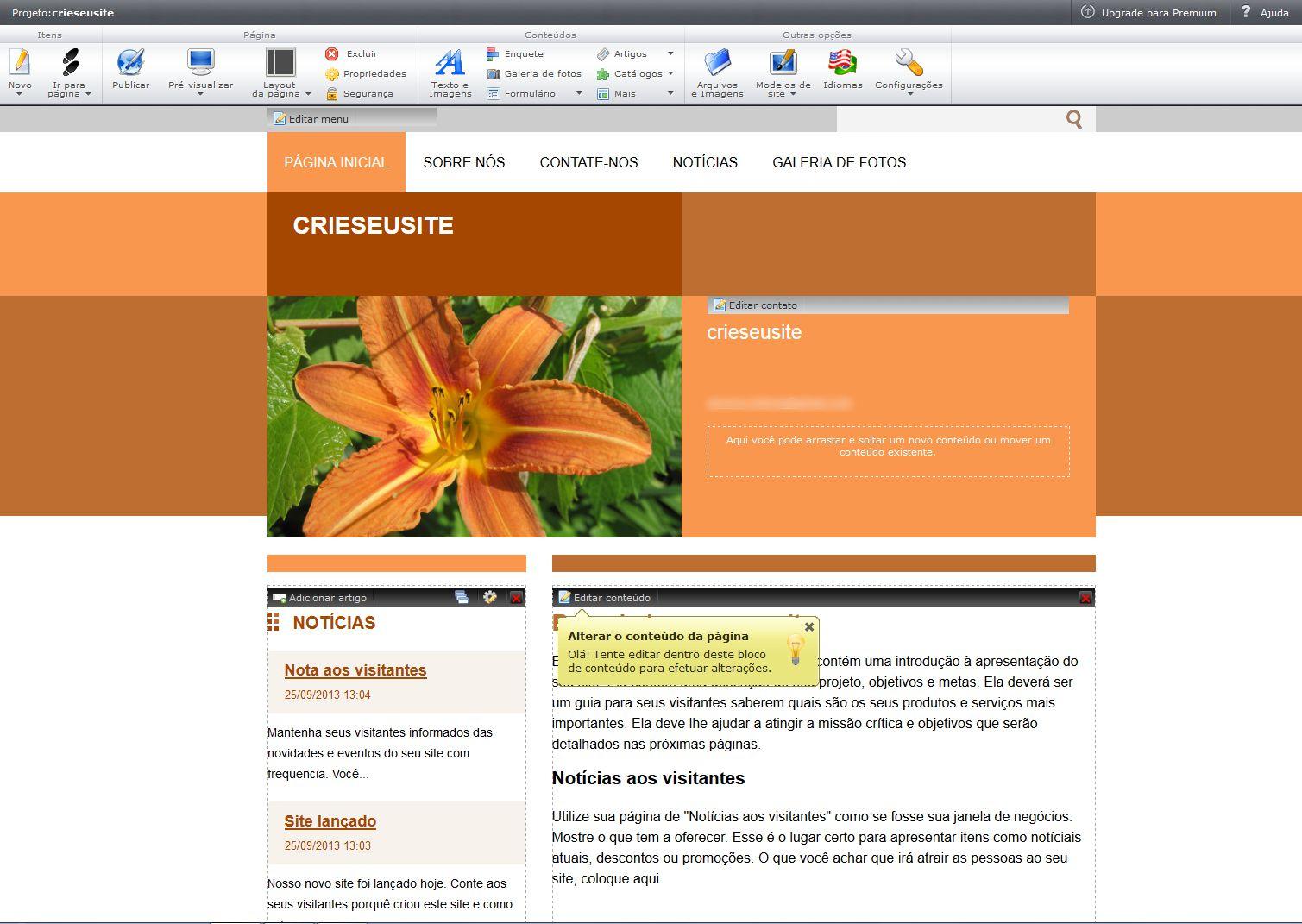 Webnode (Foto: Reprodução)