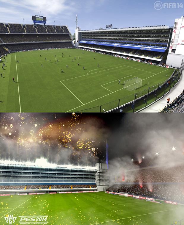 Estádio La Bombonera está presente nos dois jogos (Foto: Reprodução / TechTudo)
