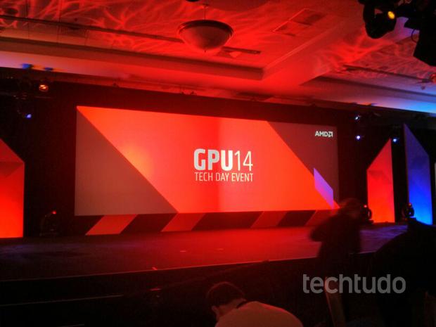 Em evento GP14, AMD apresenta nova linha de placas de vídeo (Foto: TechTudo/Isadora Díaz)