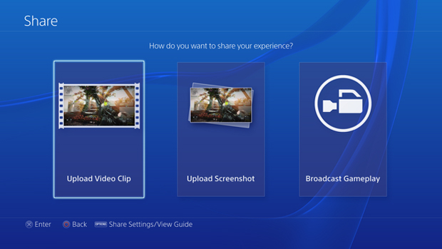 PlayStation 4: Sony divulga fotos inéditas da interface do console Playstation-4-ps4-interface-5-share