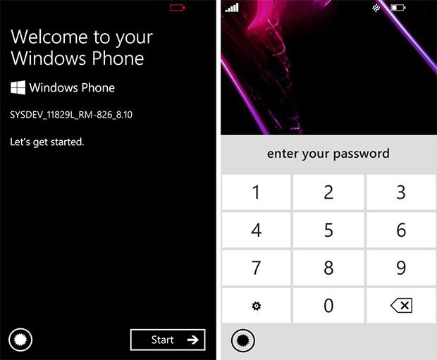 Imagens do suposto Windows Phone 8.1 mostram as telas de boas vindas e bloqueio do sistema (Foto: Reprodução)