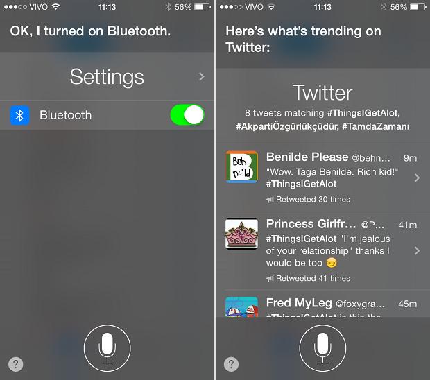 Siri aceita novos comandos no iOS 7 (Foto: Reprodução/Thiago Barros)
