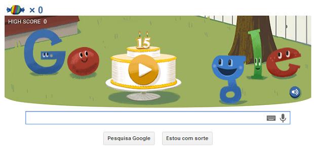 Doodle festeja 15 anos do Google (Foto: Reprodução)