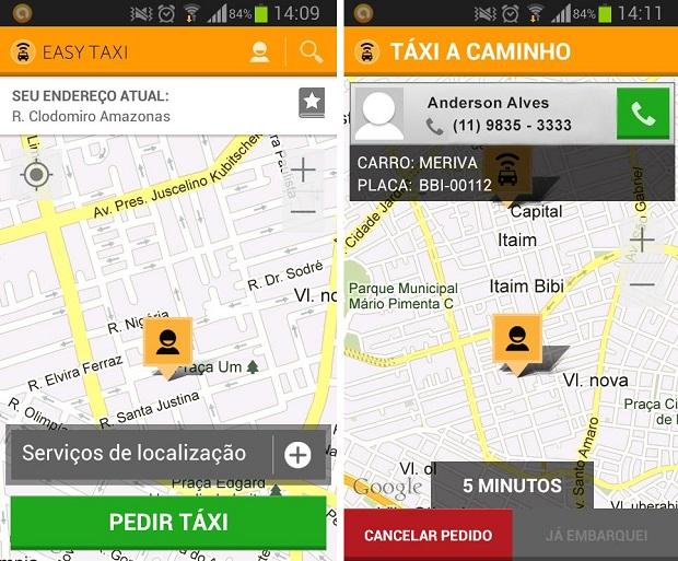 Easy Taxi é um aplativo para solicitar um táxi pelo celular (Foto: Reprodução)
