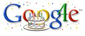 Doogle do 4º aniversário do Google