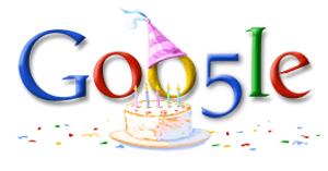 Doogle do 5º aniversário do Google