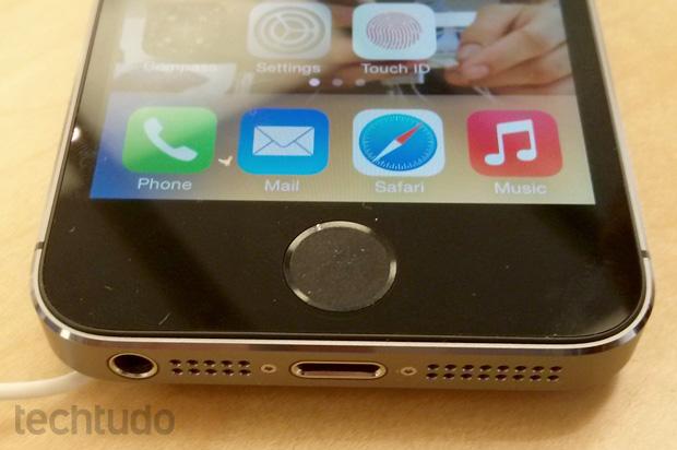 Touch ID é uma das grandes novidades do iPhone 5S  (Foto: Isadora Díaz / TechTudo)
