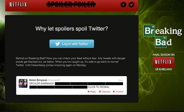 Aplicativo esconde spoilers de Breaking Bad no Twitter (Foto: Reprodução)